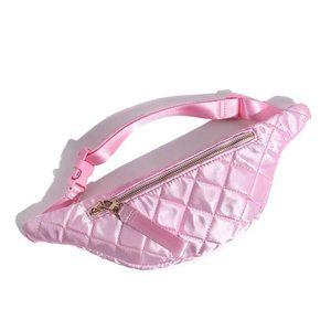 🎀  Pink Quilted Belt Bag/Fanny Pack🛍F21